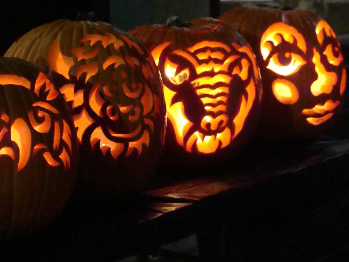 3. D. Holland pumpkin carvings at Mainsite